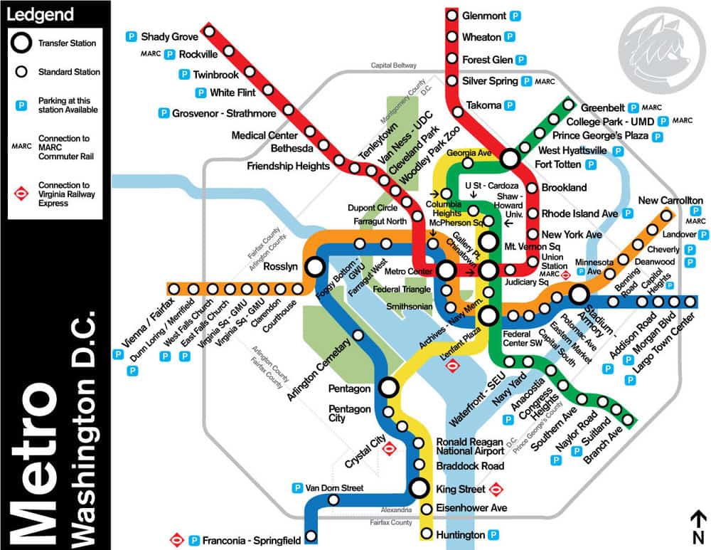 Washington Dc Metro Map With Attractions Quotes